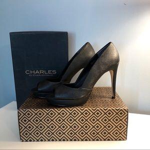 Charles by Charles David Platform Peep Toe Sz 9